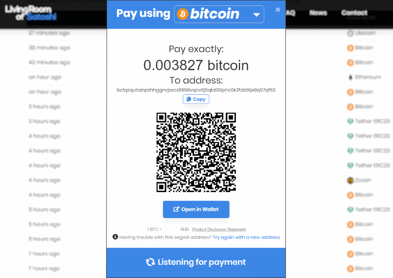 pay bill with bitcoin